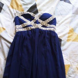 Blue full length formal